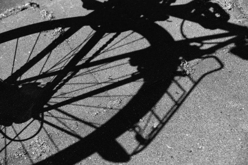 Schatten eines Fahrrades