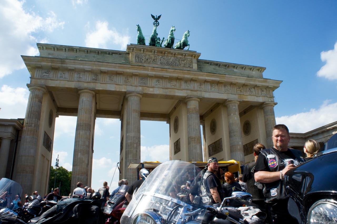 Abschlusskundgebung Sternfahrt Biker Union